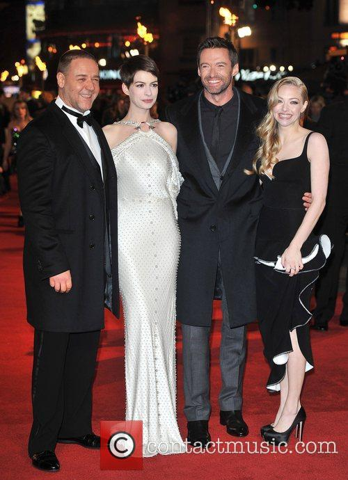 Hugh Jackman, Anne Hathaway, Amanda Seyfreid, Russell Crowe and Empire Leicester Square 1