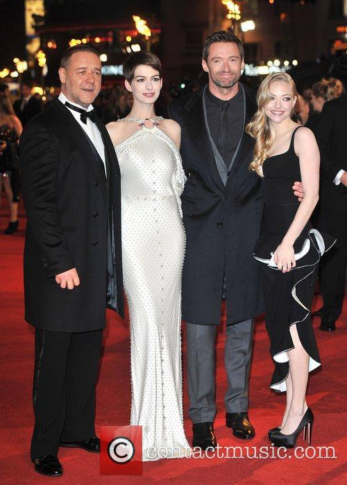 Hugh Jackman, Anne Hathaway, Amanda Seyfreid, Russell Crowe and Empire Leicester Square 4