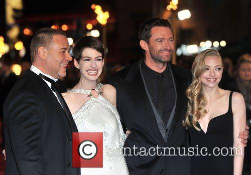 Hugh Jackman, Anne Hathaway, Amanda Seyfreid, Russell Crowe and Empire Leicester Square 3