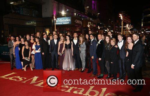 Cast Of Les Miserables at London Premiere