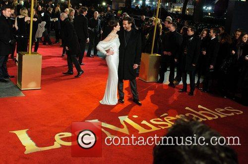 Anne Hathaway and Hugh Jackman Les Miserables World...