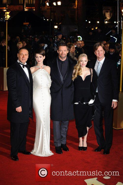 Russell Crowe, Anna Hathaway, Hugh Jackman, Amanda Seyfried, Tom Hooper and Empire Leicester Square 8