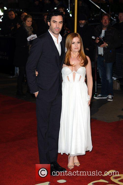 Sacha Baron Cohen, Isla Fisher and Empire Leicester Square 8