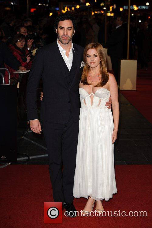 Sacha Baron Cohen, Isla Fisher and Empire Leicester Square 4