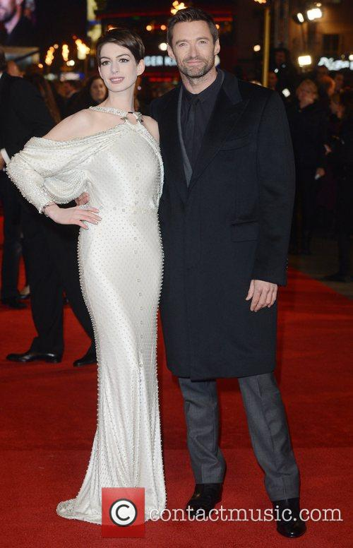 Anne Hathaway, Hugh Jackman, Les Miserable, Odeon, Leicester Square, London and England 2
