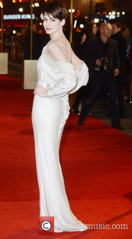 Anne Hathaway, Les Miserable, Odeon, Leicester Square, London, England