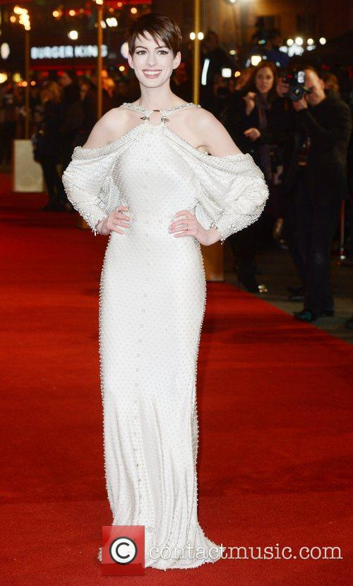 Anne Hathaway, Les Miserable, Odeon, Leicester Square, London and England 2