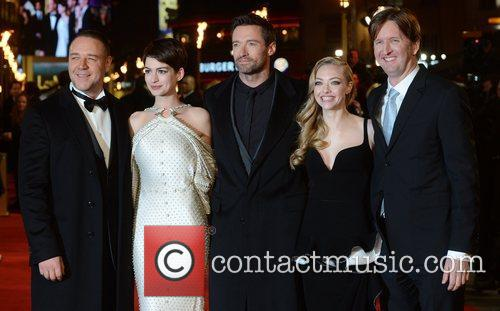 Russell Crowe, Anne Hathaway, Hugh Jackman, Amanda Seyfried, Tom Hooper, Les Miserable, Odeon, Leicester Square, London and England 3
