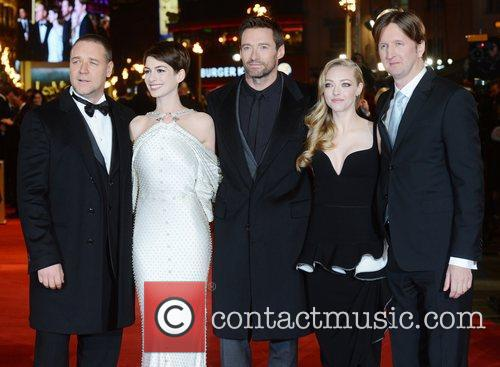 Russell Crowe, Anne Hathaway, Hugh Jackman, Amanda Seyfried, Tom Hooper, Les Miserable, Odeon, Leicester Square, London and England 2