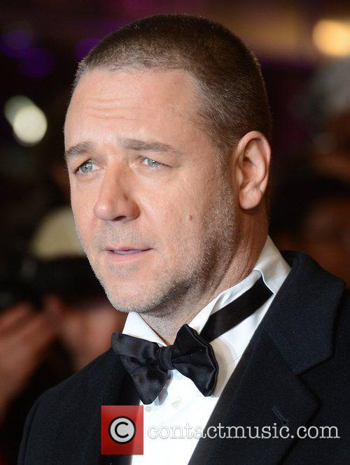 Russell Crowe, Les Miserable, Odeon, Leicester Square, London and England 1