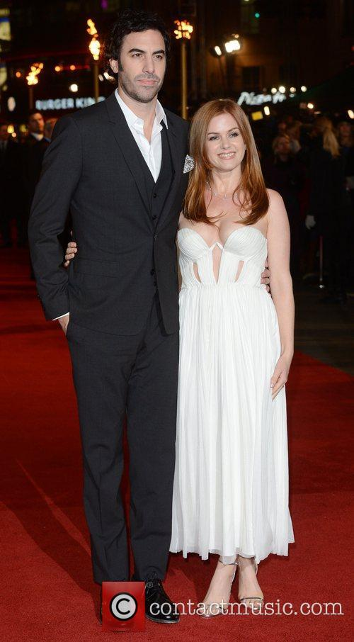 Sacha Baron Cohen, Isla Fisher, Les Miserable, Odeon, Leicester Square, London and England 3