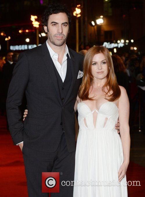 Sacha Baron Cohen, Isla Fisher, Les Miserable, Odeon, Leicester Square, London and England 5