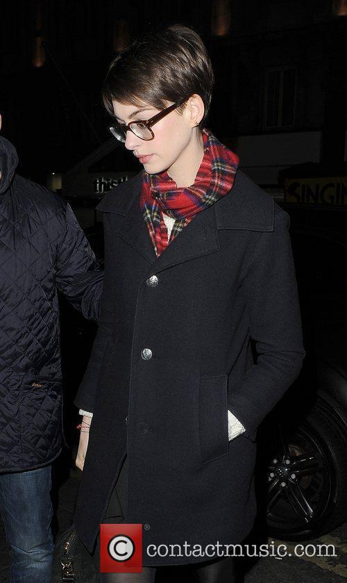 Anne Hathaway, Adam Shulman, Empire Cinema, Leicester Square and Les Miserables 5
