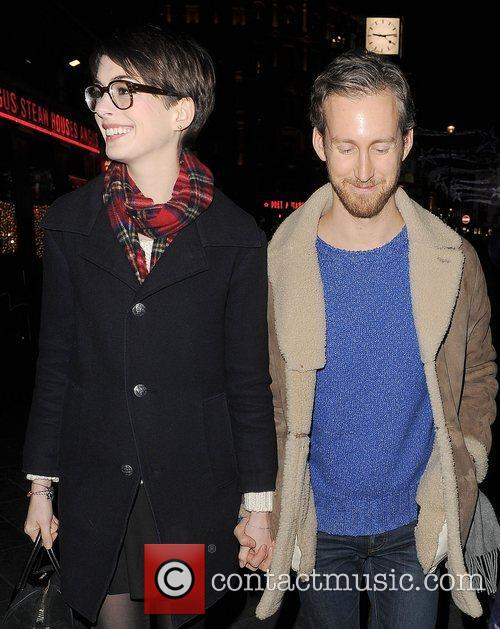 Anne Hathaway, Adam Shulman, Empire Cinema, Leicester Square and Les Miserables 10