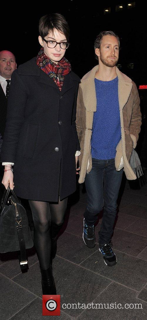 Anne Hathaway, Adam Shulman, Empire Cinema, Leicester Square, Les Miserables
