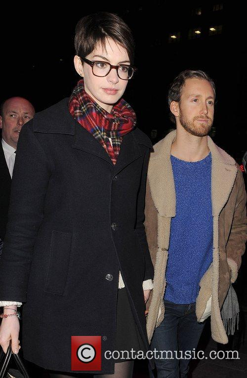 Anne Hathaway, Adam Shulman, Empire Cinema, Leicester Square and Les Miserables 3