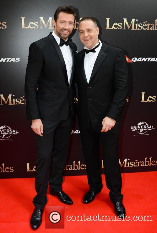 Russell Crowe, Hugh Jackman, Les Miserables