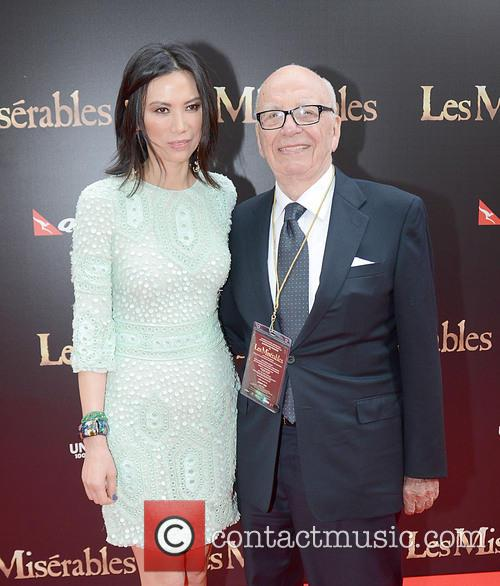 Rupert Murdoch and wife Wendi, Les Miserables Premiere