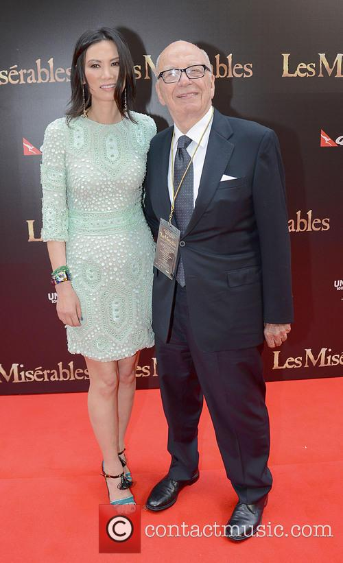 Rupert and Wendi Deng Murdoch, Les Miserables Premiere
