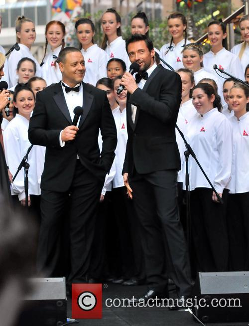 Hugh Jackman and Russell Crowe