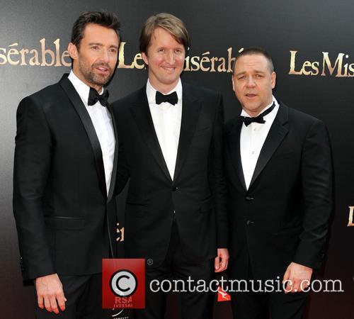 Hugh Jackman; Tom Hooper; Russell Crowe The Australian...