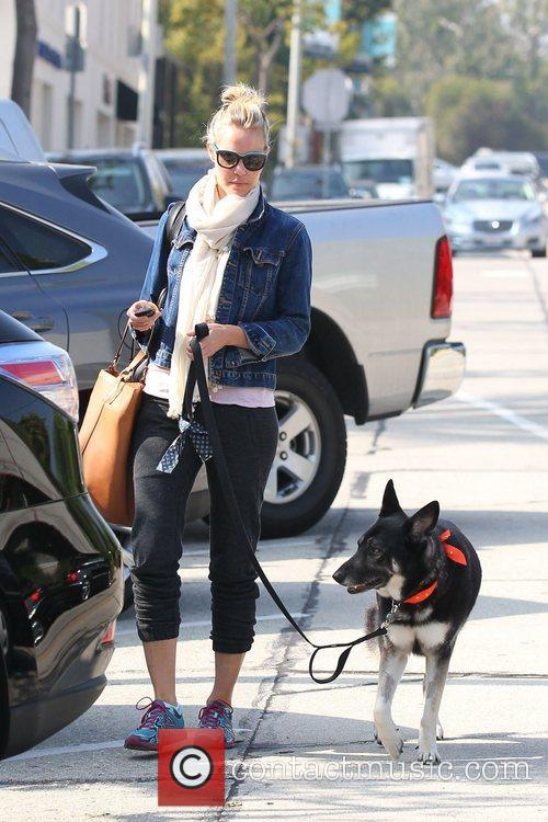 Out and about with her dog in West...
