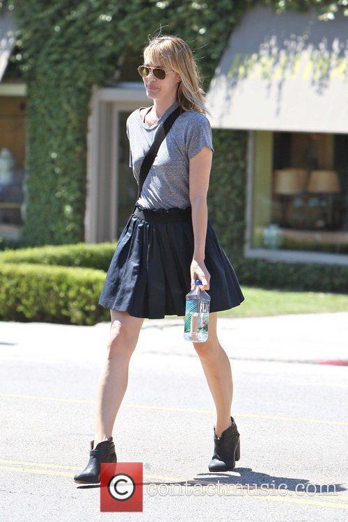 Actress Leslie Bibb is seen leaving an antique...