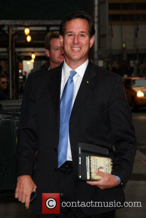 Rick Santorum  Celebrities at the Ed Sullivan...
