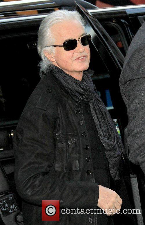 Jimmy Page Arrives For Letterman