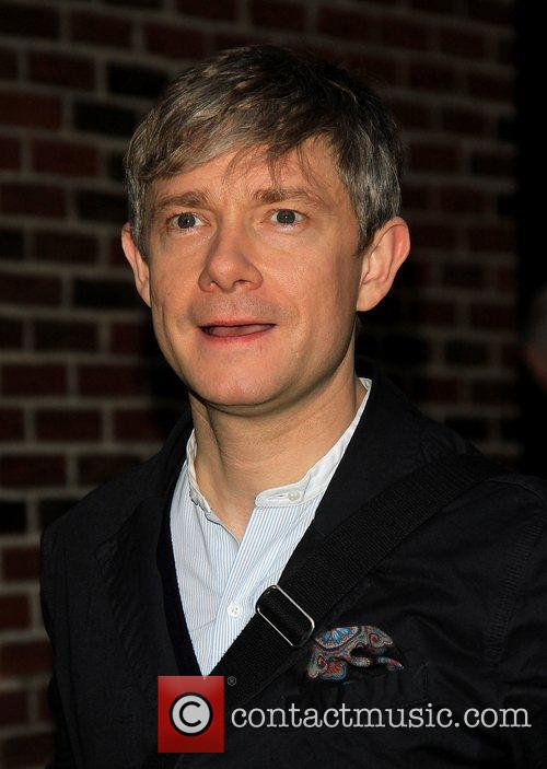 martin freeman celebrities arrive for the late 5962281