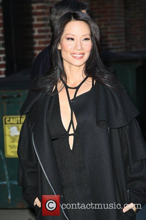 Lucy Liu and Ed Sullivan Theatre 4
