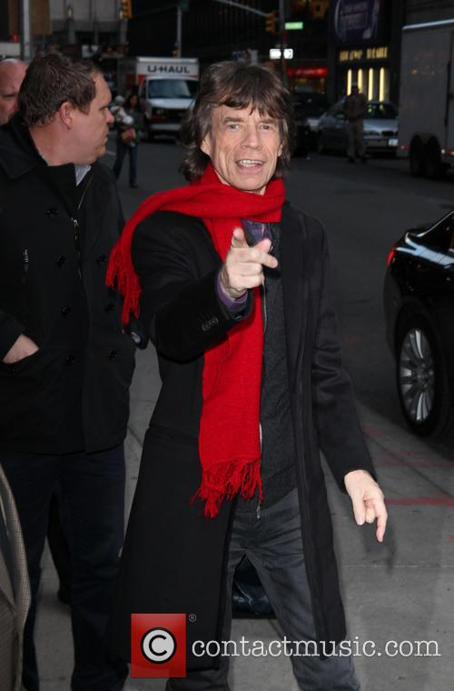 mick jagger outside the ed sullivan theatre 20026253
