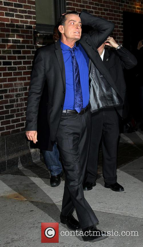 Charlie Sheen Celebrities at the Ed Sullivan Theater...