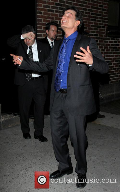 charlie sheen celebrities at the ed sullivan 20062058