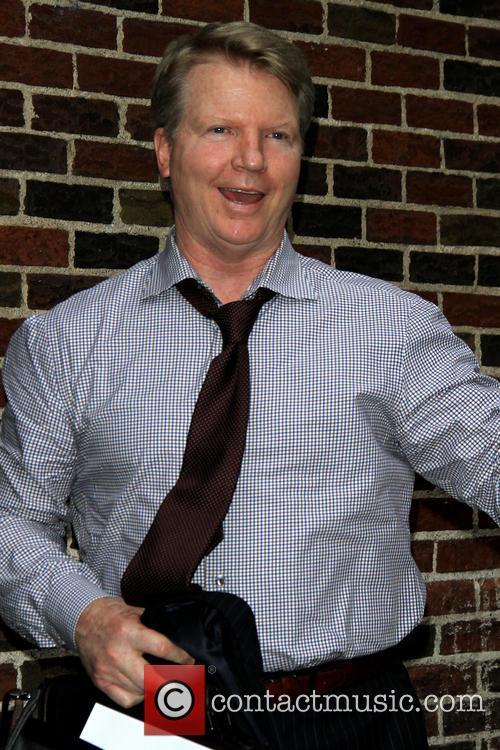 Phil Simms Celebrities at the Ed Sullivan Theater...