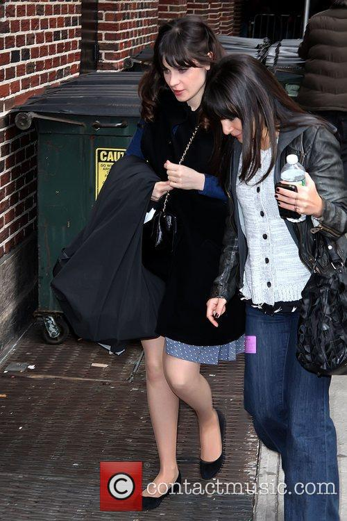 Zooey Deschanel 'The Late Show with David Letterman'...