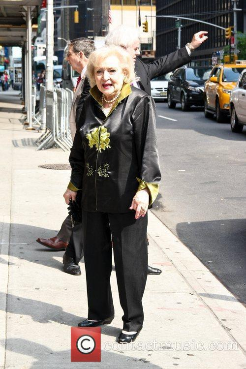 Betty White arrives at The Ed Sullivan Theater...