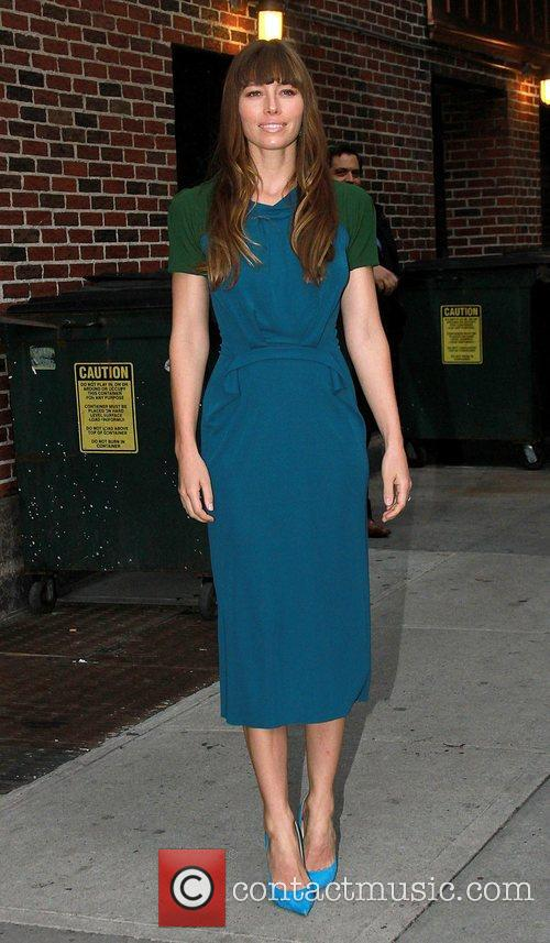 Jessica Biel 'The Late Show with David Letterman'...