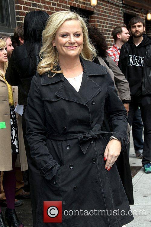 Amy Poehler Celebrities arrive at The Ed Sullivan...