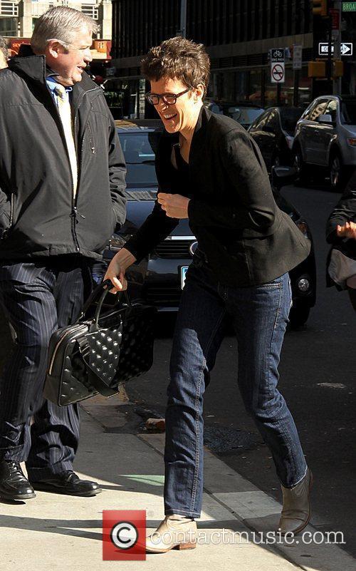 Rachel Maddow Celebrities arrive at The Ed Sullivan...