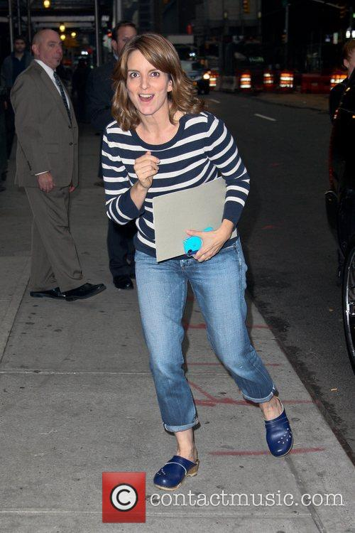 Tina Fey Celebrities at the Ed Sullivan Theater for the 'The Late Show with David Letterman' New York City, USA