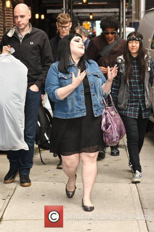 Beth Ditto of The Gossip 'The Late Show...