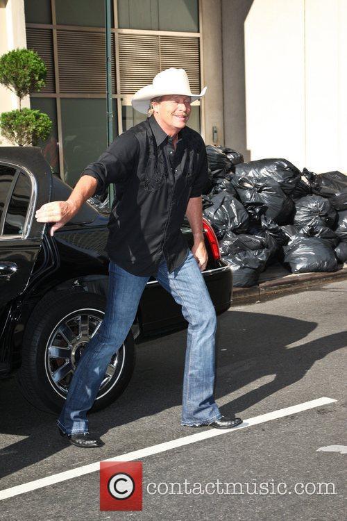 Alan Jackson leaving the Ed Sullivan Theatre after...