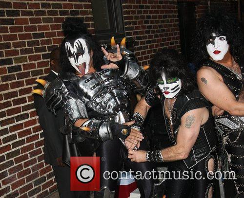Gene Simmons, Eric Singer and Paul Stanley of...