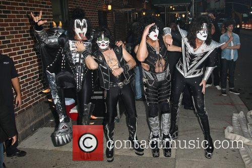 Gene Simmons, Paul Stanley, Eric Singer, Tommy Thayer, Kiss and Ed Sullivan Theatre 1