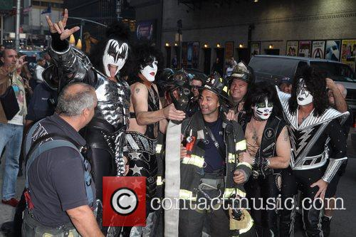 Gene Simmons, Paul Stanley, Eric Singer, Tommy Thayer, Kiss and Ed Sullivan Theatre 4