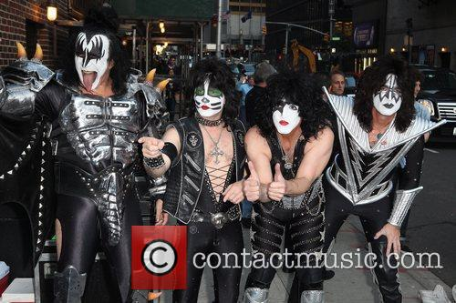 Gene Simmons, Paul Stanley, Eric Singer, Tommy Thayer, Kiss and Ed Sullivan Theatre 5