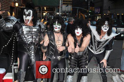 Gene Simmons, Paul Stanley, Eric Singer, Tommy Thayer, Kiss and Ed Sullivan Theatre 7