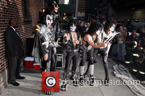 Gene Simmons, Paul Stanley, Eric Singer, Tommy Thayer, Kiss and Ed Sullivan Theatre 2