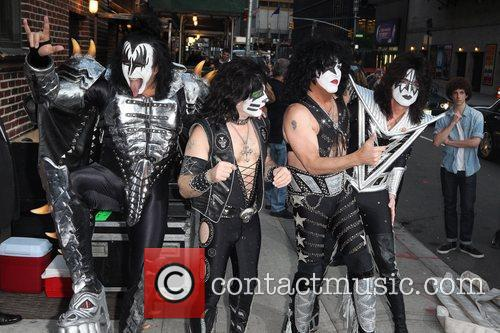 Gene Simmons, Paul Stanley, Eric Singer, Tommy Thayer, Kiss and Ed Sullivan Theatre 3